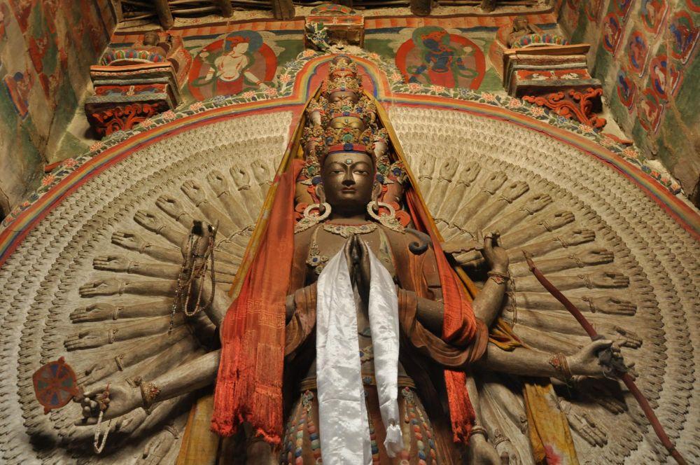 Statue du bodhisattva, monastère de Lamayuru, Ladakh