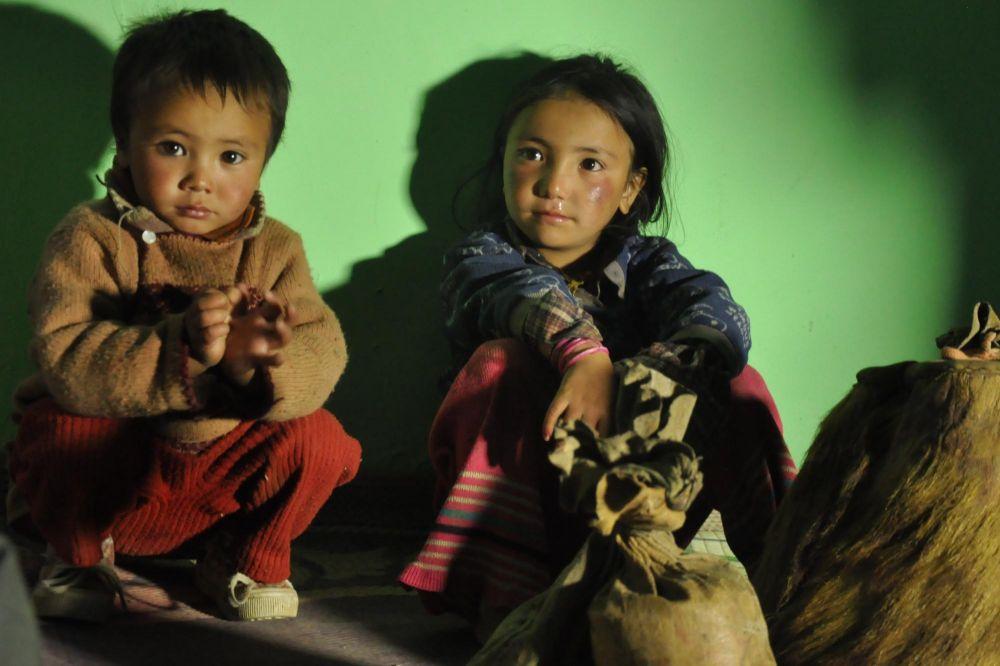 Portrait de deux enfants ladakhis