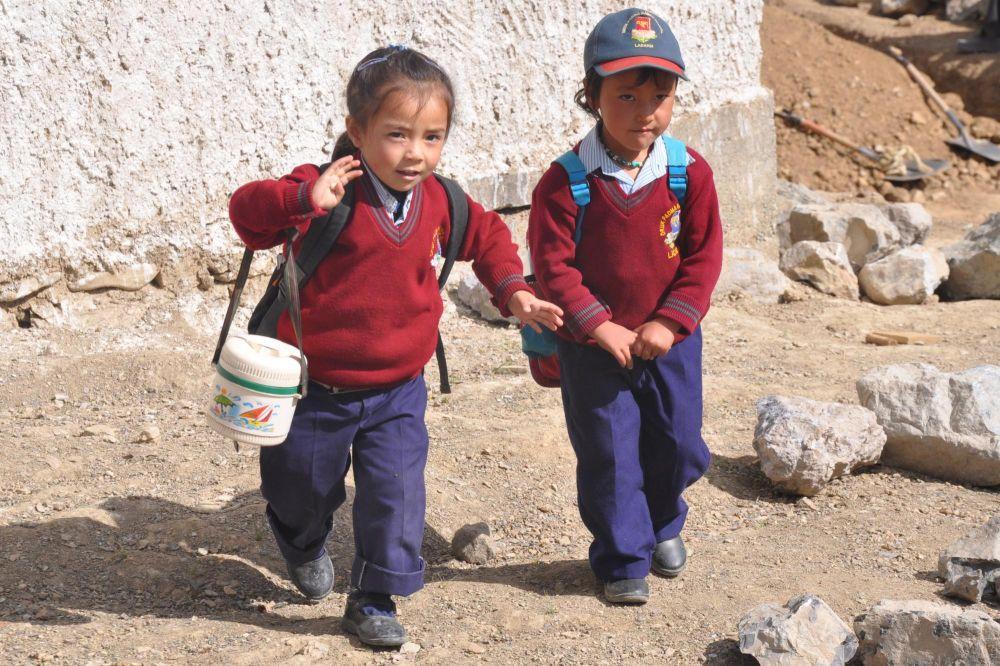 Voyage enfants ladakhis école