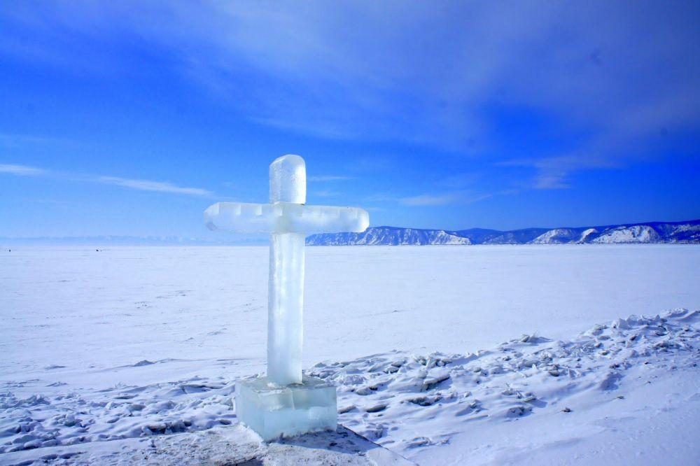 lac baikal gelé