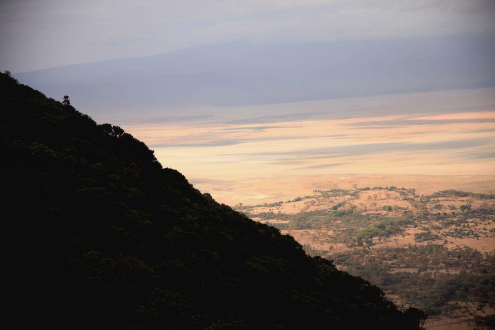 Sortie du cratère coucher de soleil - Cratère N'Gorongoro