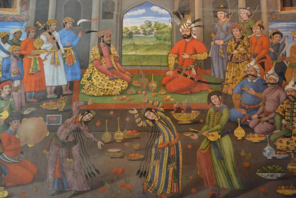 Scène festive de l'Iran d'antan