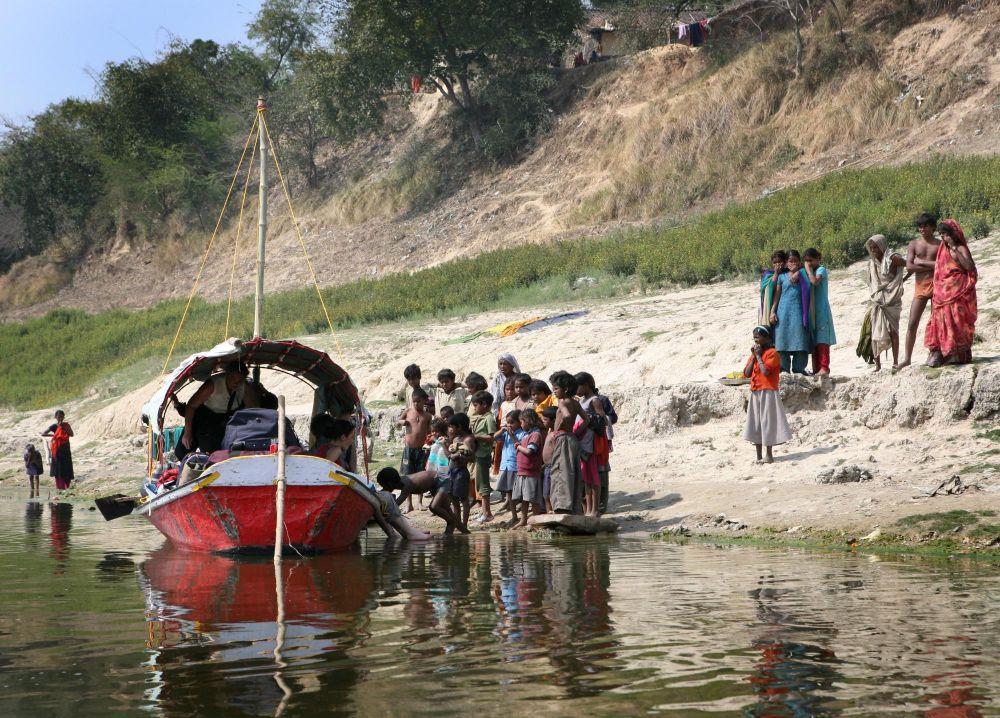 Vie locale sur les rives du Gange