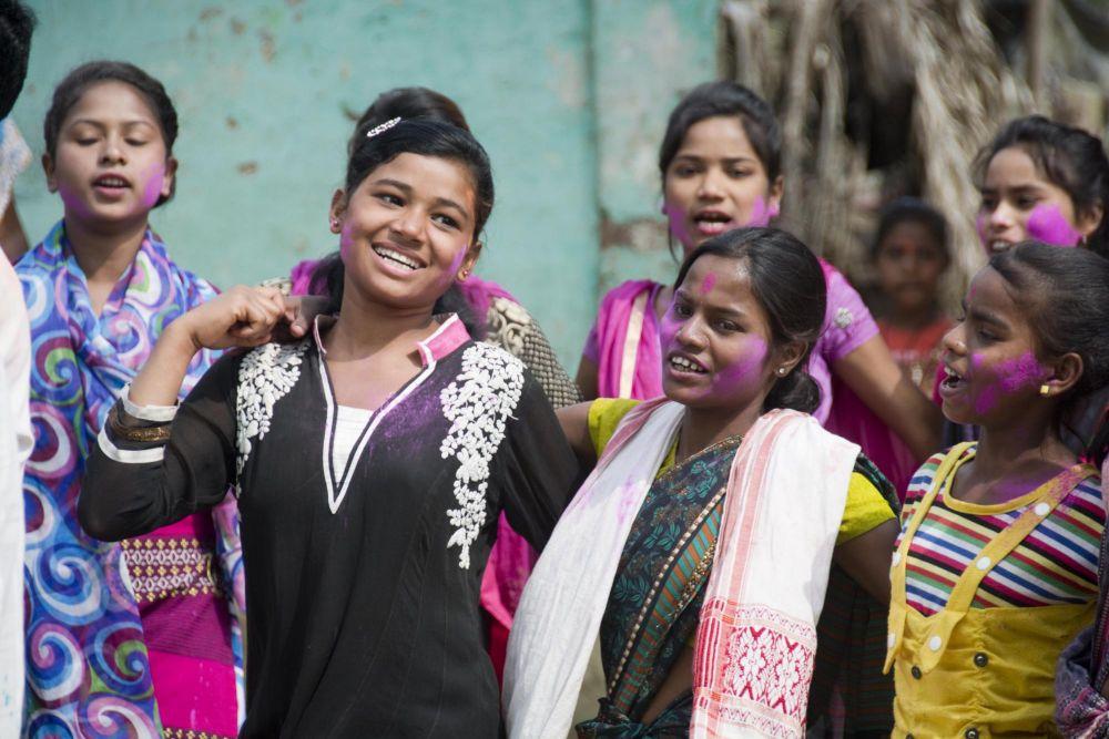 fête des couleurs, ou Holi Festival, Assam