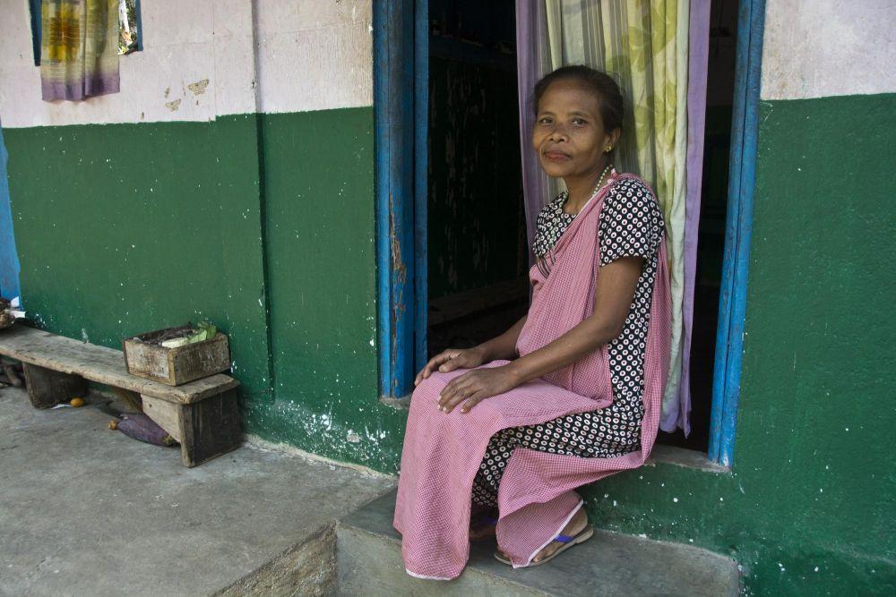 femme de l'ethnie khasi, Meghalaya