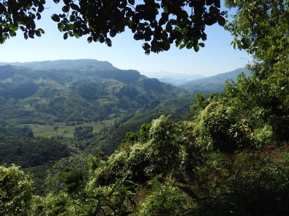 Panorama sur le relief naga, Nagaland