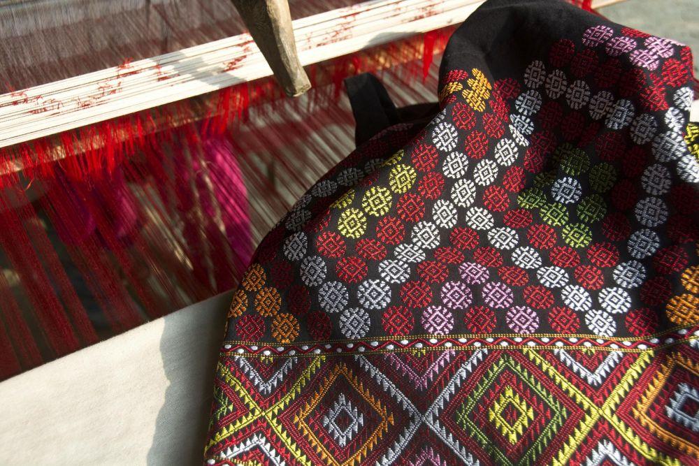 métier à tisser, île de Majuli