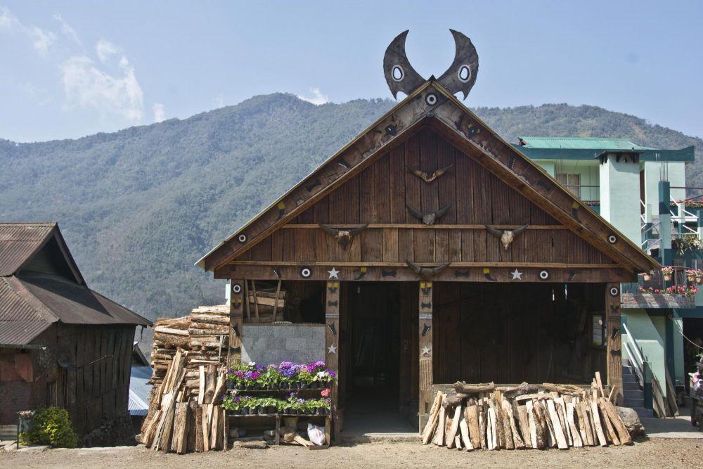 morung en village naga, Nagaland