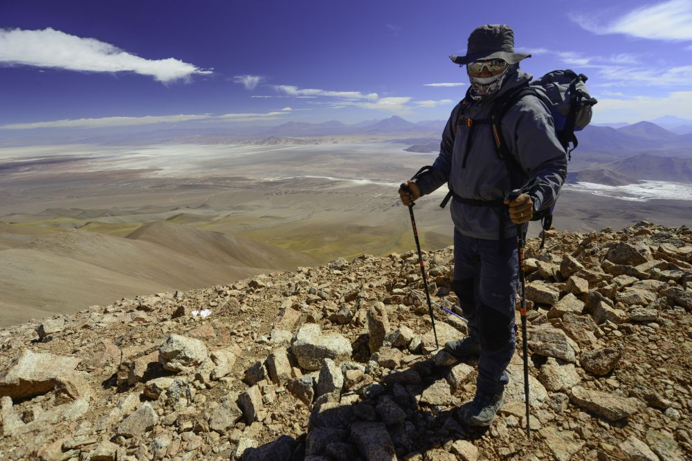 Assistant guide, au sommet du Cerro Macon (5611m)