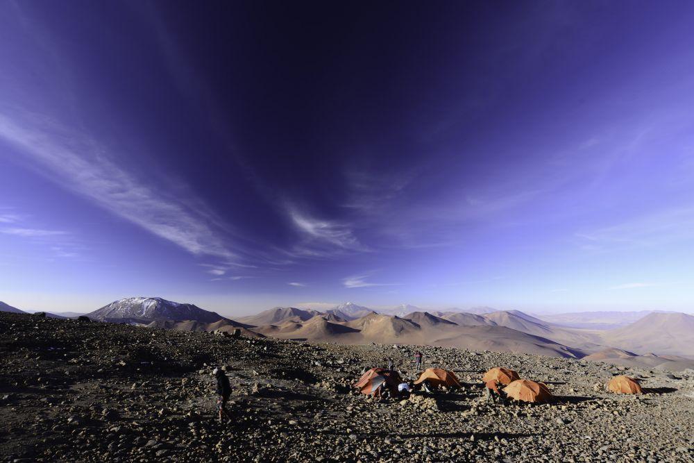 camp 1 (5500m) du Llullaillaco, Argentine
