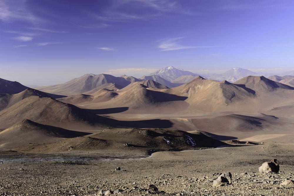 Vue depuis le camp 1 (5500m) du Llullaillaco, Argentine