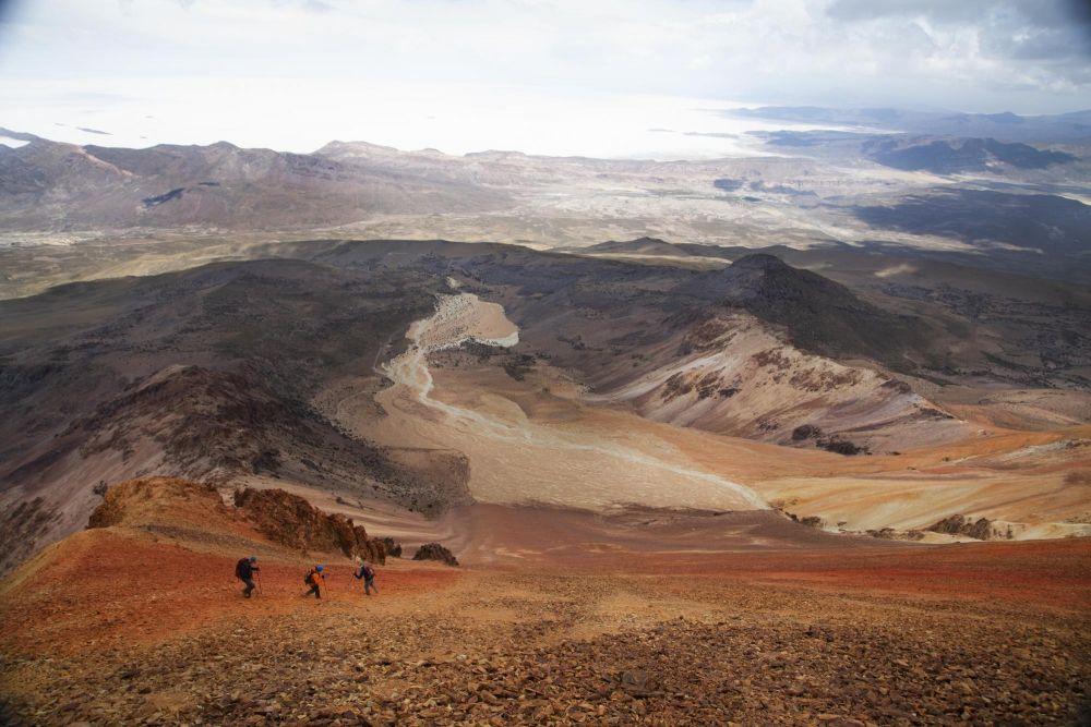 descente du volcan Tunupa, Bolivie