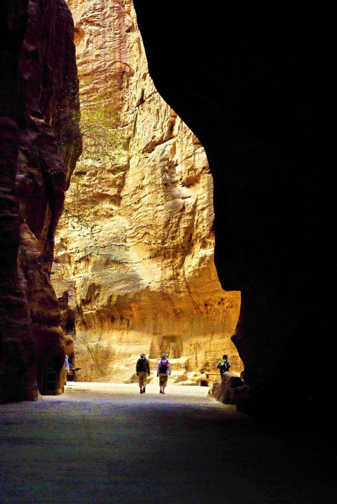 Entrée à Petra par le Siq