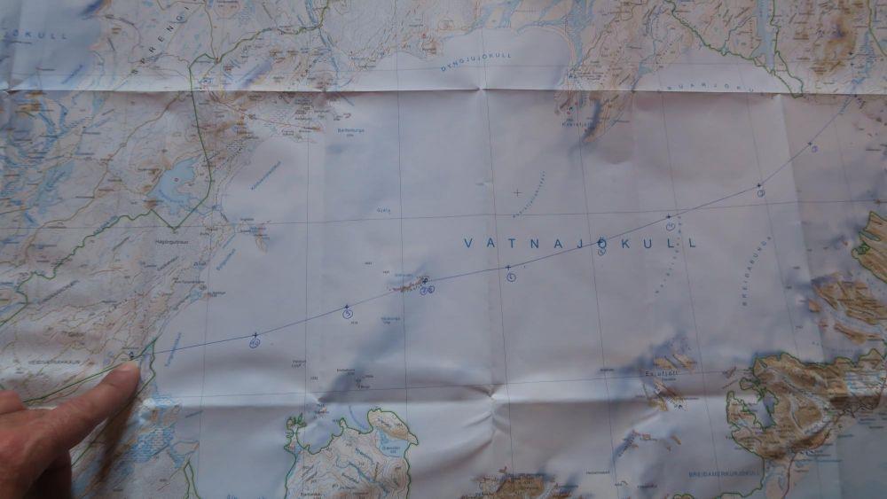 Carte et tracé de l'expédition