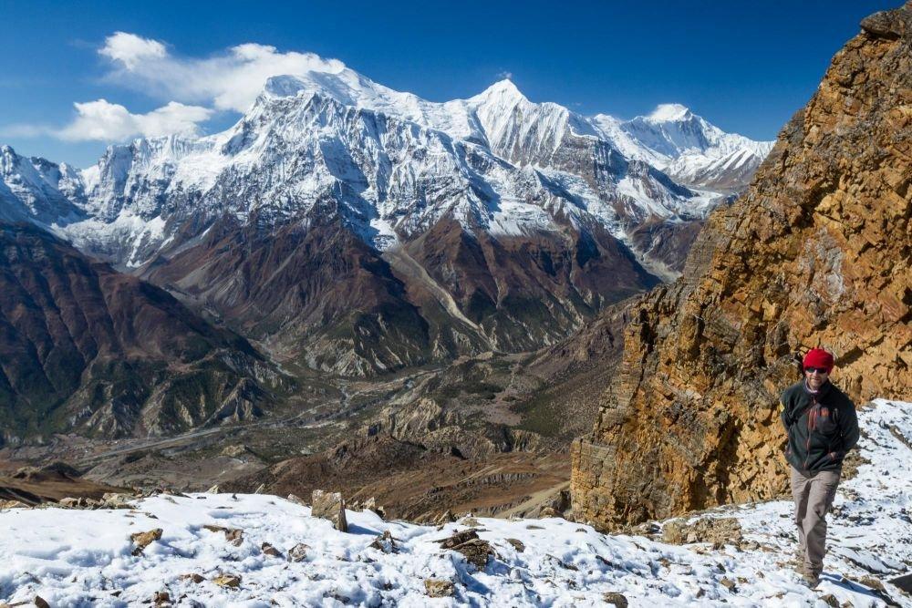 Passage du Kang La, face aux Annapurna, Népal