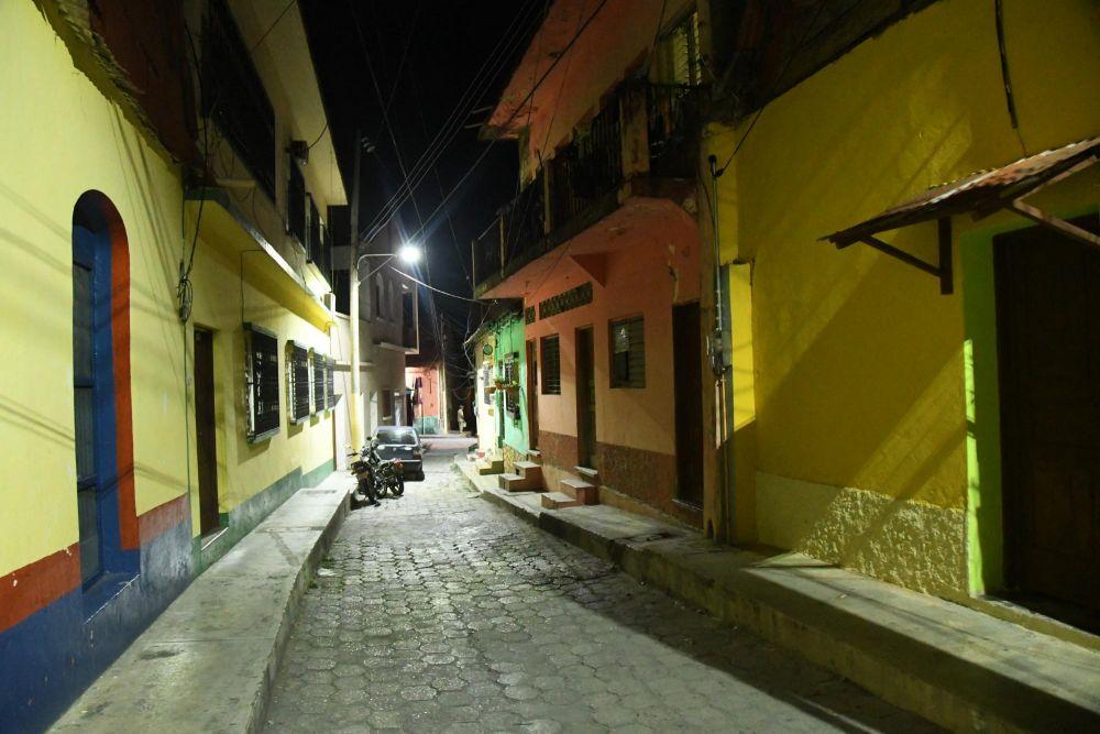 ruelle de l'île de Flores, Guatemala