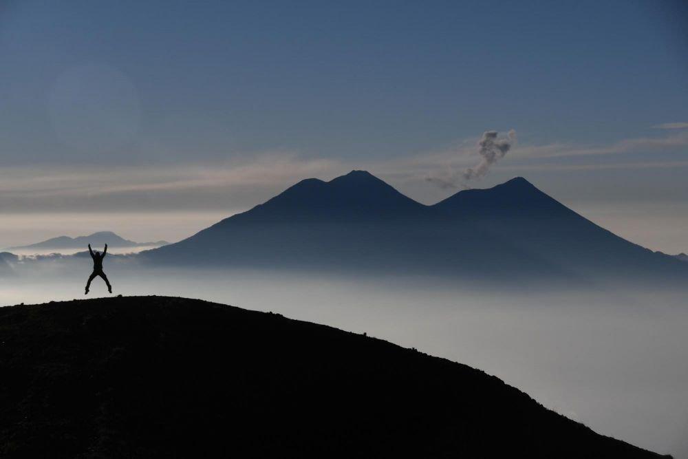 Au sommet du volcan Atitlan