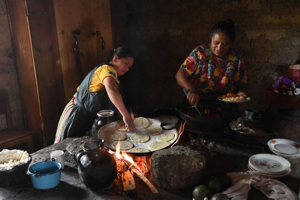 préparation des tortillas, Guatemala