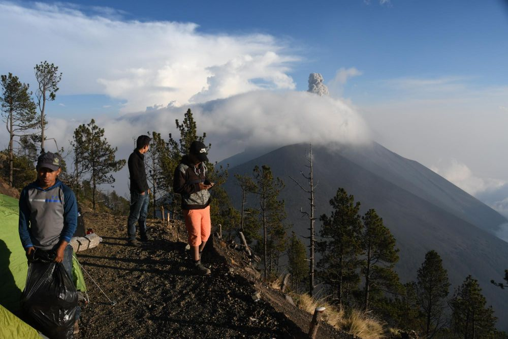 Bivouac sur le volcan Acatenango