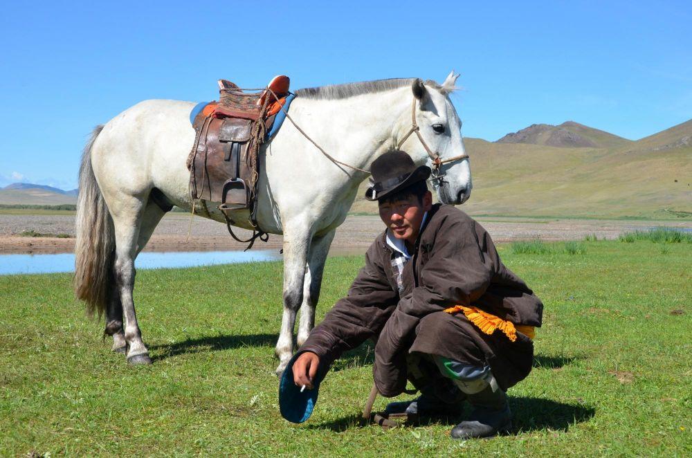 berger mongiol et son cheval