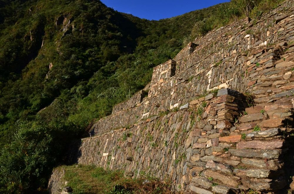 Terrasses des lamas, site de Choquequirao, Pérou