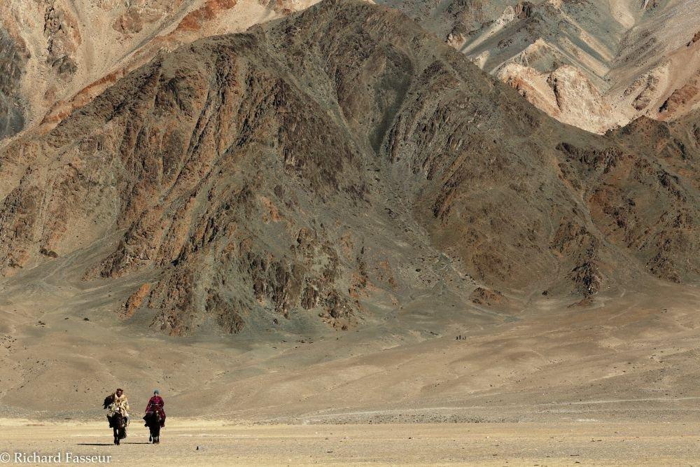 Journée en compagnie d'un aiglier kazakh dans l'Altaï mongol