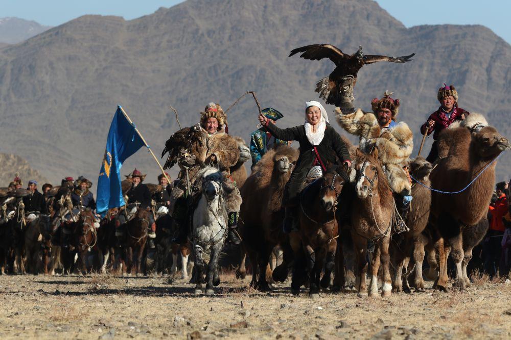 Festival des aigliers, Altaï, Mongolie