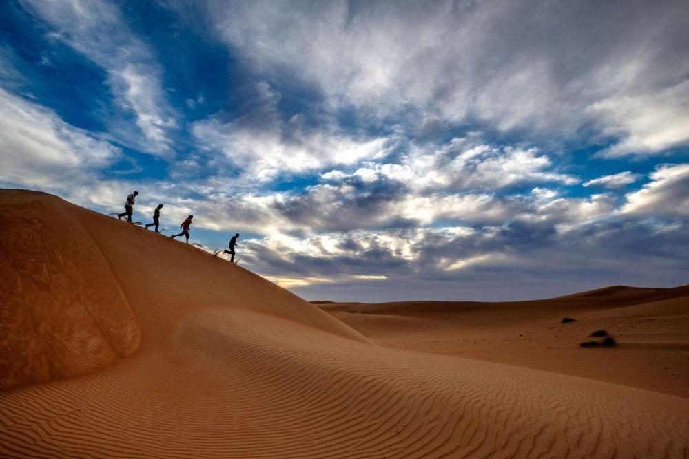 Sur la crête des dunes
