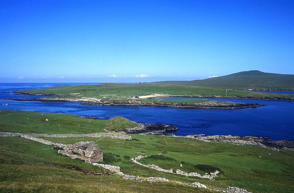Paysage îles Shetland Ecosse