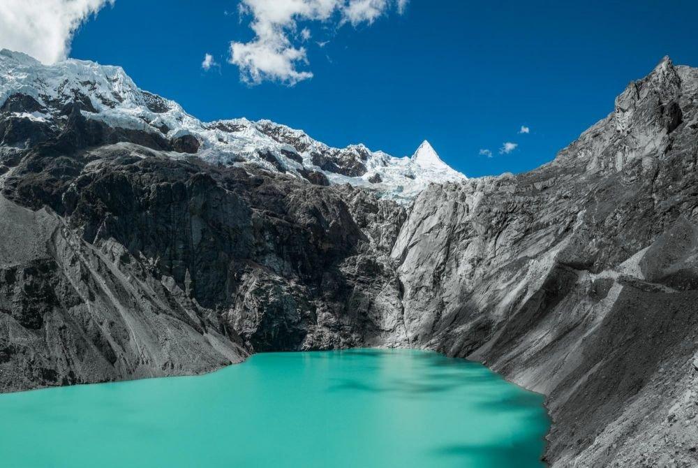 Laguna Jancarirish et Nevado Alpamayo, Cordillère Blanche, Pérou