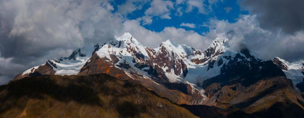 vue du col de Huillca, Cordillère Blanche, Pérou