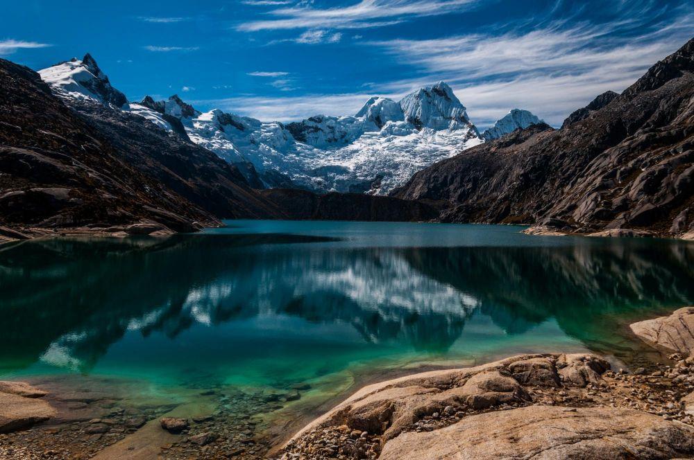 Laguna Cullicocha, Cordillère Blanche, Pérou