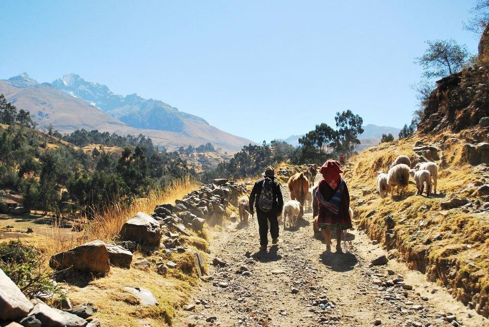 Sur le chemin de Wilcacocha, Huaraz, Pérou