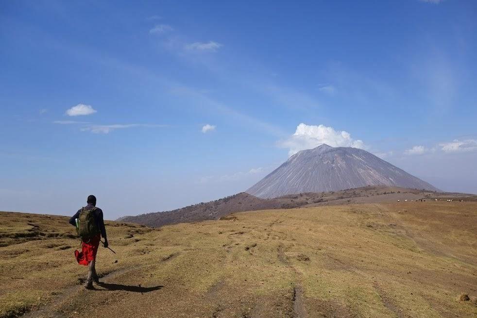 En route pour le volcan Ol Doinyo Lengaï