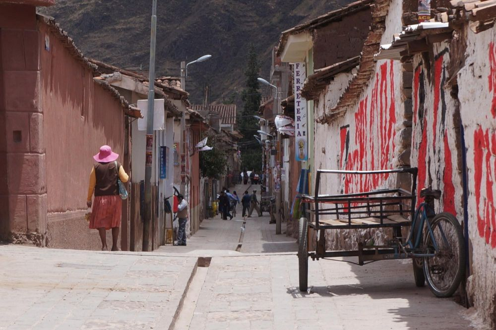 Ruelle du village de Pisac, Vallée Sacrée, Pérou