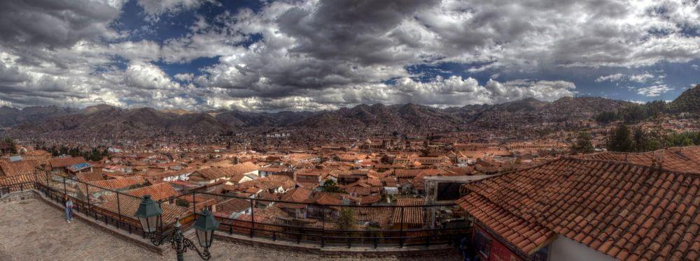 Vue sur le centre ville de Cusco, Pérou