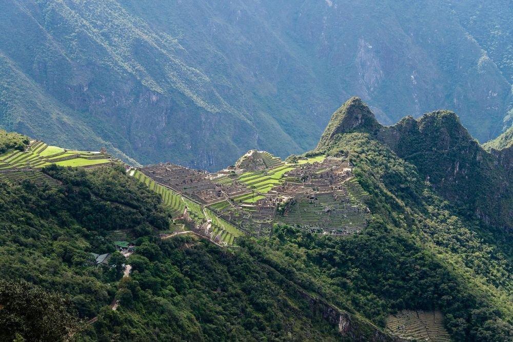 Machu Picchu vu depuis l'Inti Puncu, la porte du soleil, Pérou