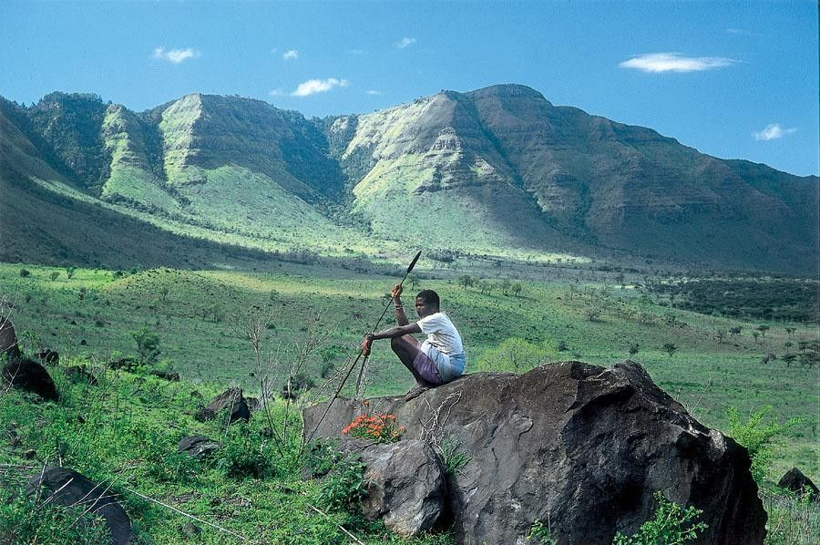 Samburu vue sur Matthews range
