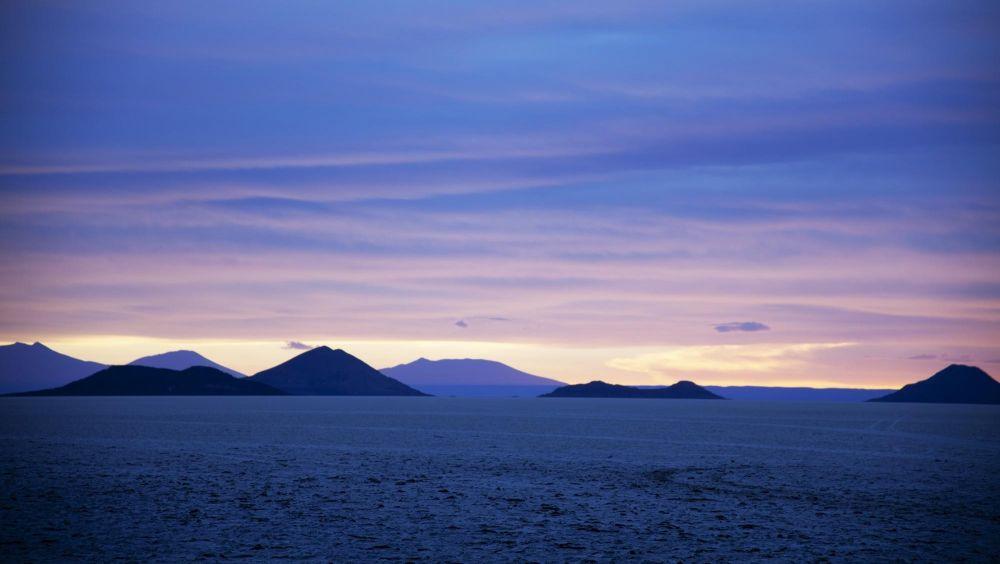 Salar d'Uyuni au crépuscule, Bolivie