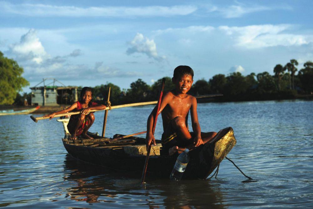 pirogue sur le mekong