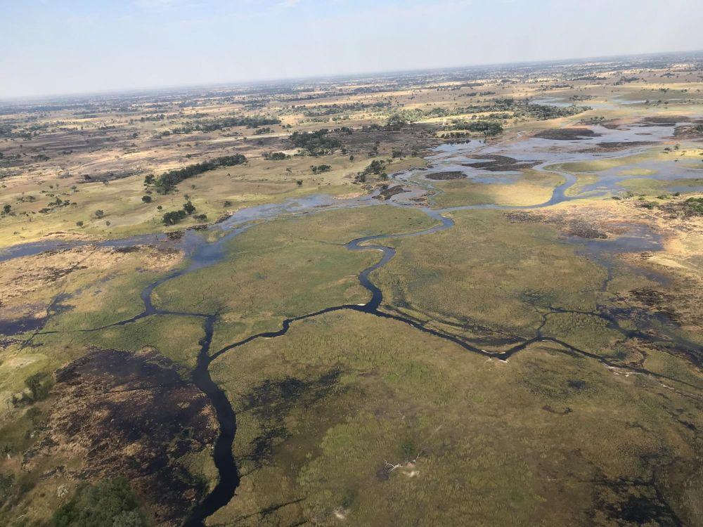 Delta Okavango vu du ciel