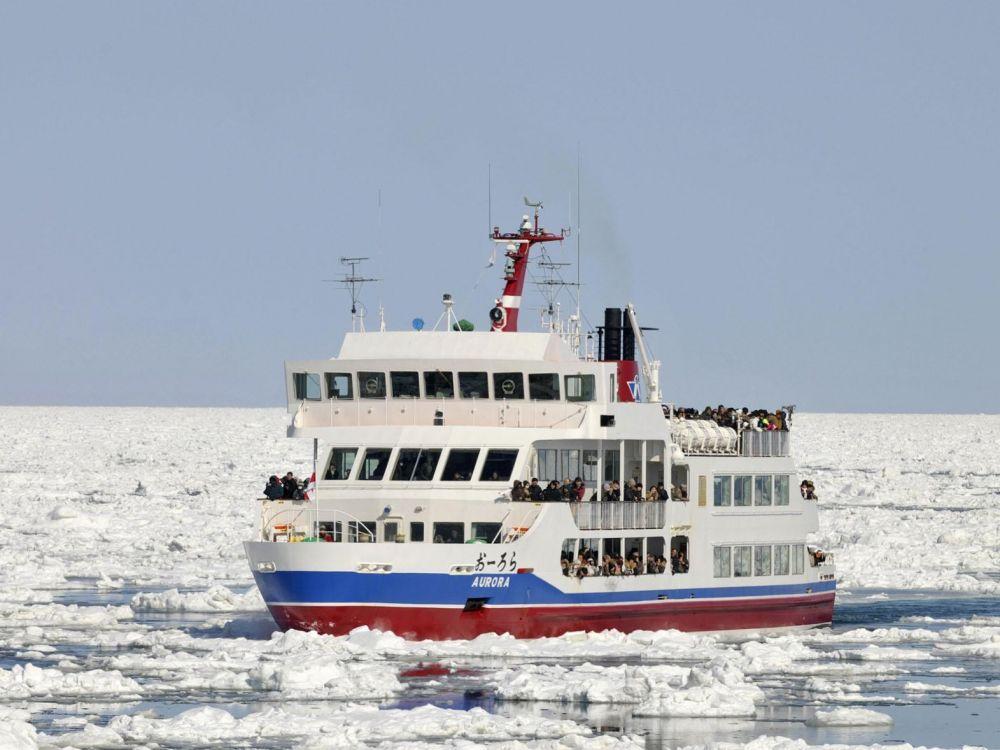 navigation à travers les glaces d'abashiri