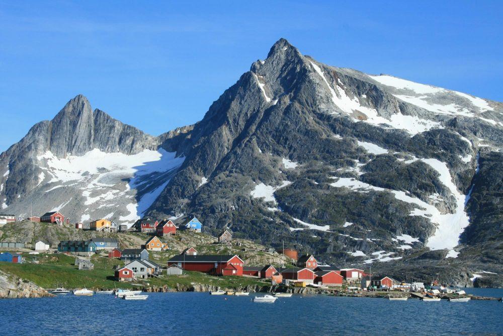 Village de Kuummiut au Groenland
