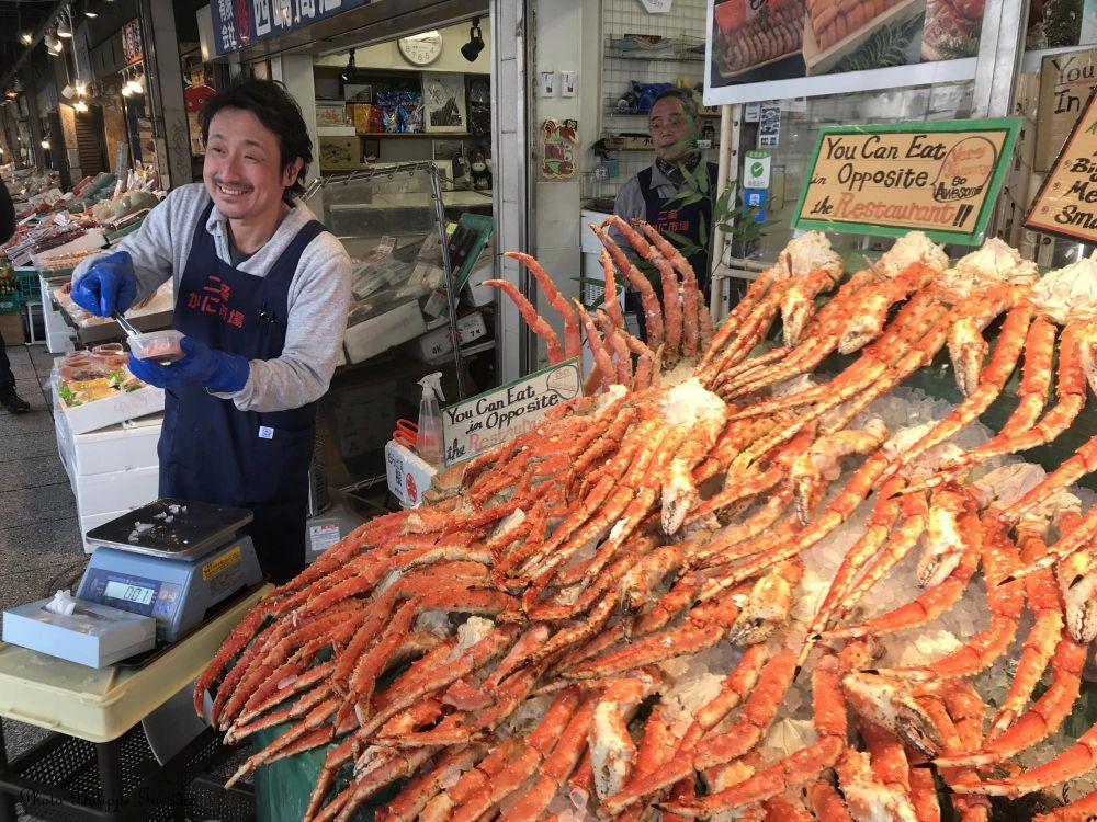 vendeur de crabes