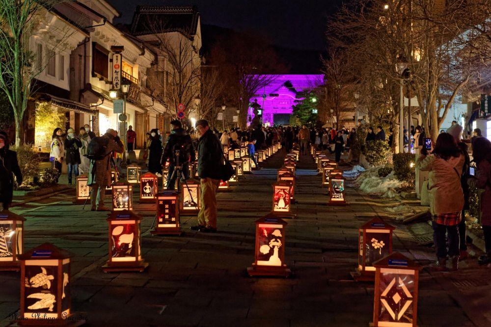 lanternes dans les rues de sapporo