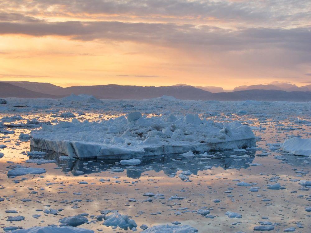 Fjord Sermilik au Groenland