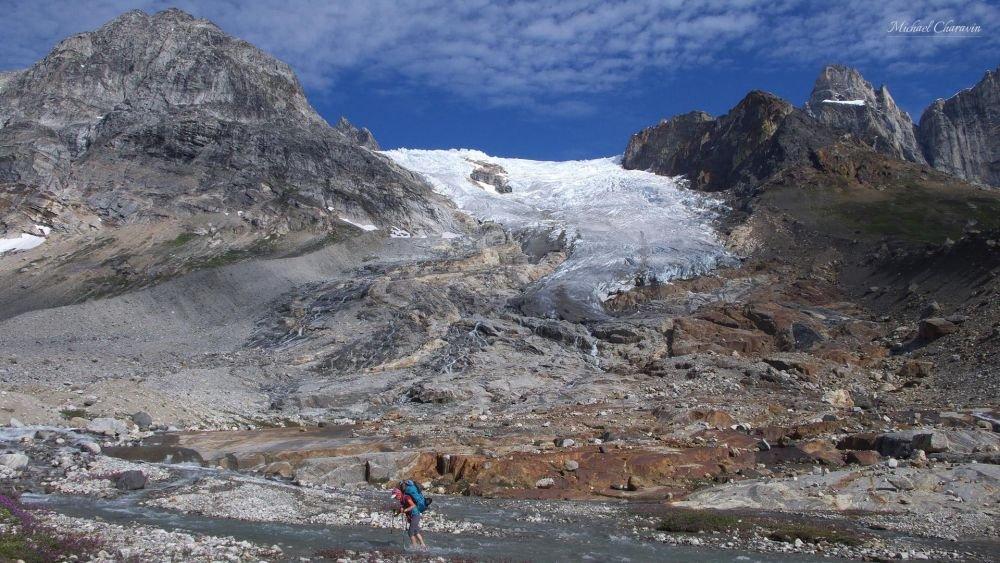 Langue glaciaire dans le Schweizerland au Groenland