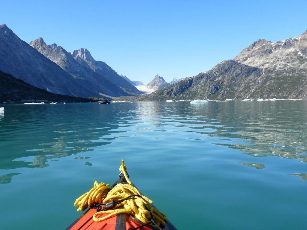 Kayak dans les fjords au Groenland