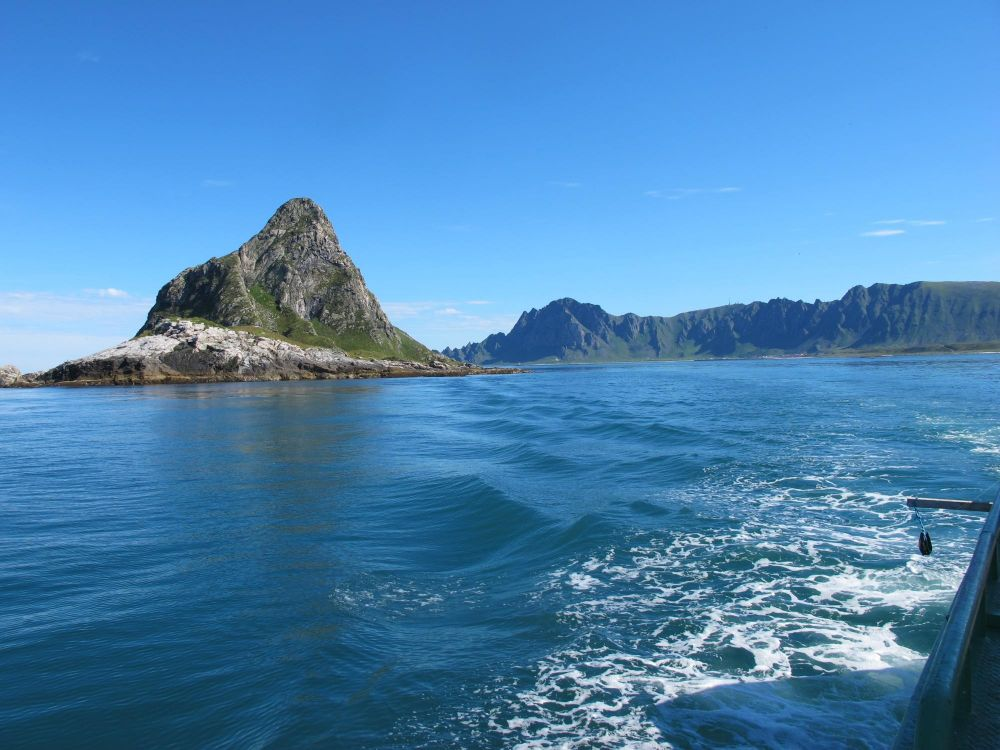 île de Bleik en Norvège
