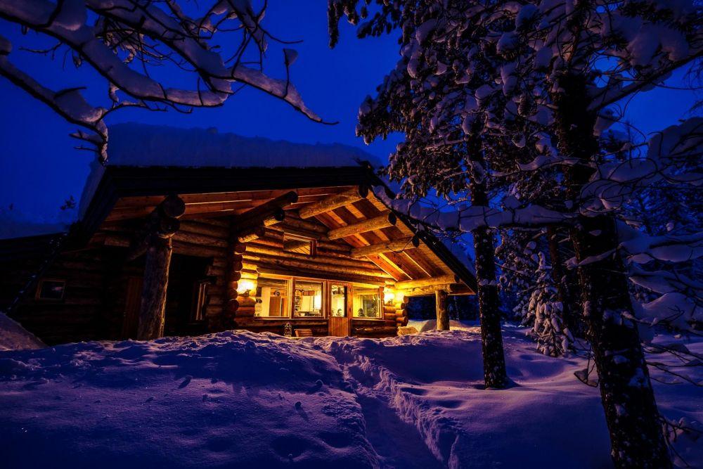 chalet en Laponie, Finlande, voyage photo aurores boréales